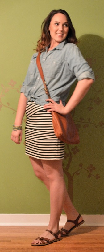 chambray skirt 1